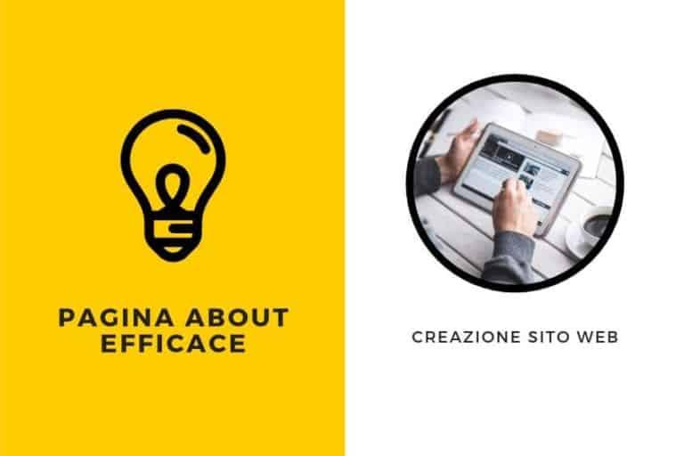 Creazione sito internet pagina about